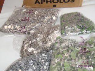botones metalicos marca apholos gabardina jeansetc