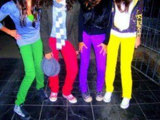 Chupines Floggers de Nenas Jeans Colores Varios en la Feria La Salada Envios al Interior