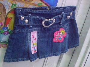 Liquidamos Polleras de Nenas Tipo Globo Jeans Elastizados Fabrica Moda Infantil