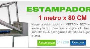 Maquina Sublimadora FABRICANTE ARGENTINA! La mejor CALIDAD del mercado 1 METRO