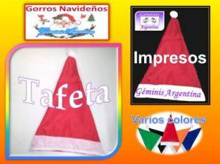 Gorros de Papa Noel Navideños de Tela desde $ 4 Pedidos Cantidad Envios Interior