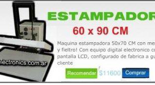 Maquinas Estampadoras FABRICANTE! La mejor CALIDAD ARGENTINA 60x90cm